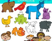 KPM Brown bear and Friends Digital  Clip Art COMBO