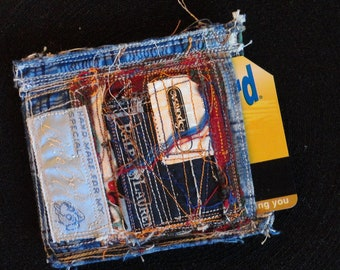 Artisan CARD HOLDER: Useful art object, handmade in NYC!