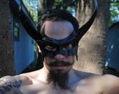 Onyx Demon Leather Mask
