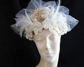 THE FLAPPER BRIDE 1920s Vintage Inspired Bridal Headpiece Wearable Art Gatsby Wedding
