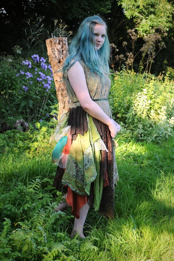 Woodland fairy dress autumn fall wedding dress by for Woodland fairy wedding dress