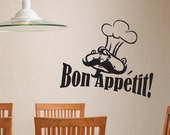 Bon Appetit Kitchen Chef Wall Decal