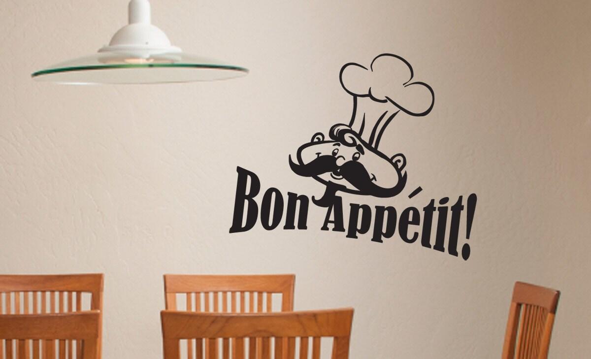 Bon Appetit Chef Kitchen Wall Art