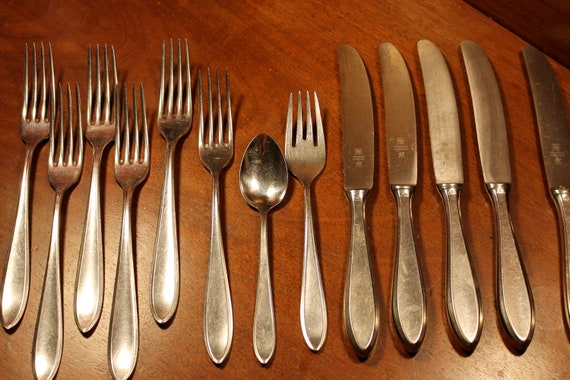 Vintage Flatware from Fraser's Germany in Shadowpoint - 13 Pieces