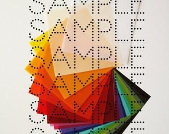 Sample Sheet - Try our unique translucent origami vellum paper - Origami Paper Craft Supplies