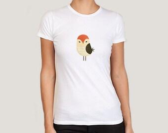 Women's Owl t-shirt, owl tshirt, owl tee