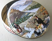 Vintage Crabtree & Evelyn of London Round Tin British or Scotish Police Imagery  and British or Scotish Countryside
