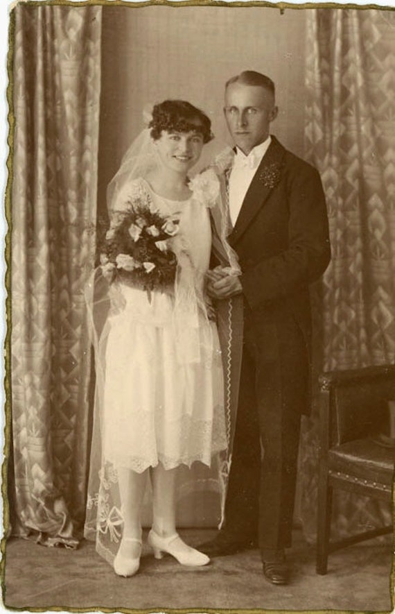 """RESERVED - Vintage Photo Postcard """"Young Love"""", Photography, Paper Ephemera, Snapshot, Old Photo, Collectibles - 0078"""