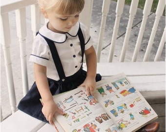 Molly Schoolgirl Blouse: Girls Blouse Pattern, Baby & Toddler Blouse Pattern