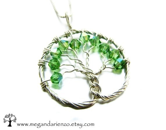 peridot tree of pendant august birthstone by
