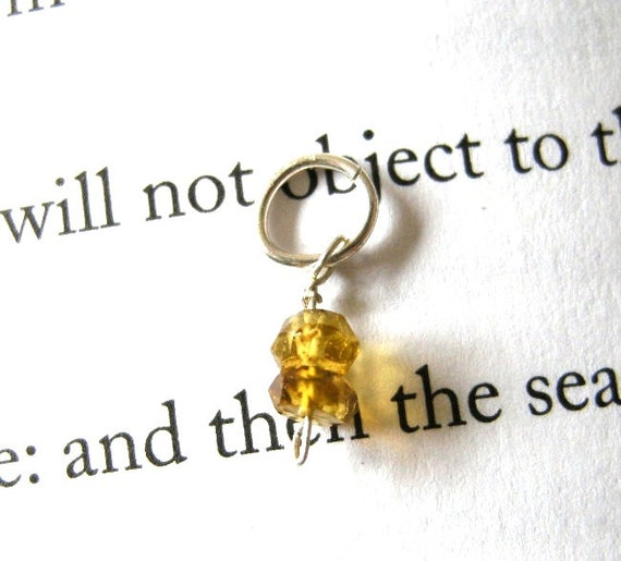 PAY IT FORWARD Very Petite Golden Watermelon Tourmaline Dangle / Tiny, Honey, Faceted