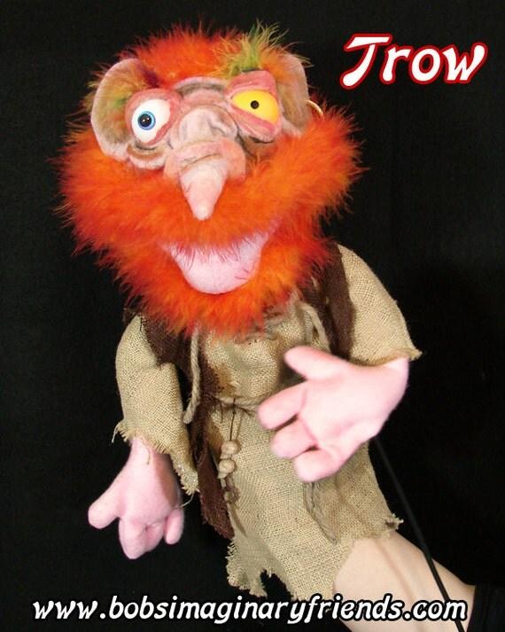 Hand Puppet Troll or ventriloqist figure