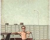 A Man & His Ford Taunus Print