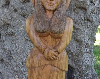 Grace Sculpture in olive wood