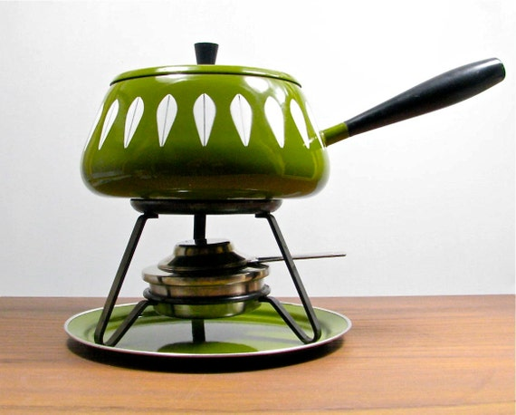 Cathrineholm Fondue Set in Olive Green