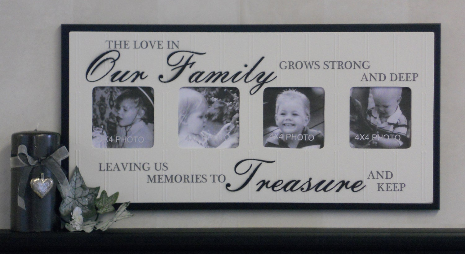 Unique Family Gift Photo Frame Brown Or Black Sign The