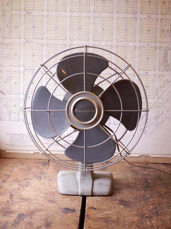 Vintage Table Fan : Vintage kenmore desk fan retro midcentury mad men style