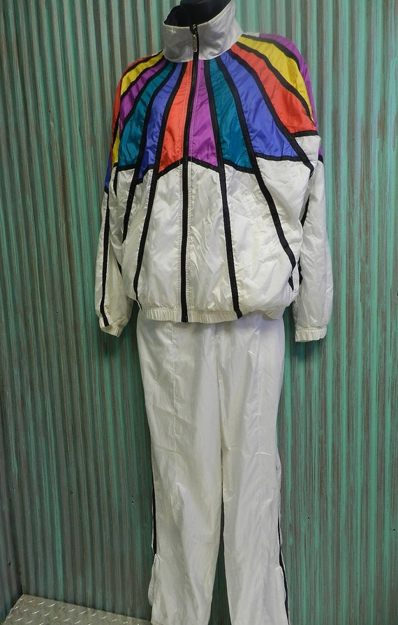 Vtg 80s 90s Swishy Jogging Tracksuit Lonely Island Costume