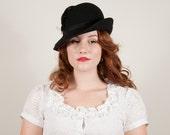 vintage 1970s hat / wool fedora / Brewster
