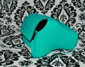 DSLR Camera Case - turquoise neoprene