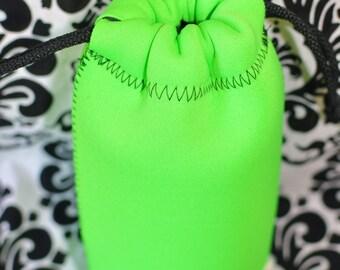 Neoprene lens case - Lime green