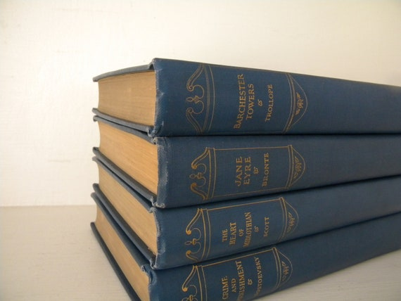 Collection of four antique books. Jane Eyre...Barchester Towers...1926