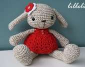 PATTERN - Miss Bunny - crochet pattern, amigurumi pattern, pdf