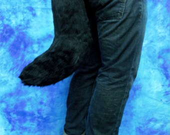 Black Faux-Fur Fox/Wolf Tail - Fursuit - Cosplay - Costume