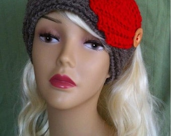INSTANT DOWNLOAD Pattern Knit-Look Headband/Ear Warmer Leaves - Crochet Pattern