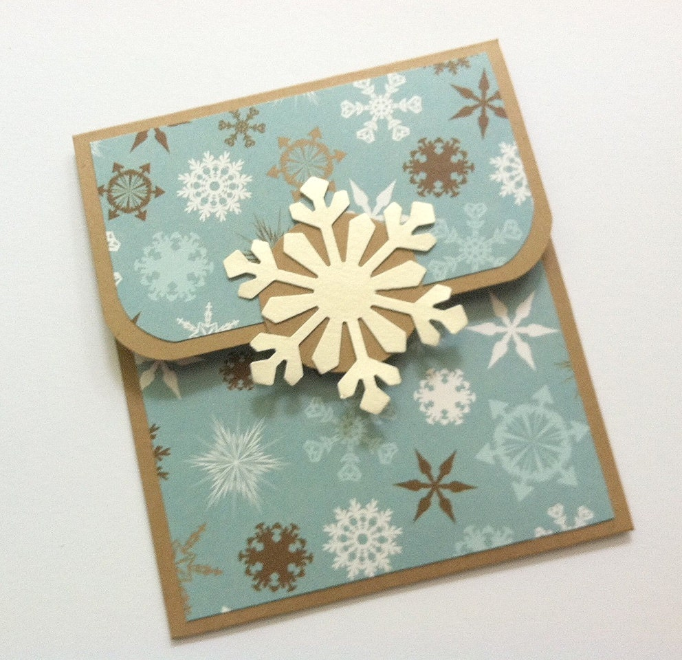 Christmas Gift Card Holder-Snowflakes