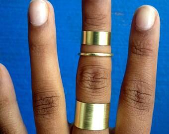 Triple Band Ring Set- Midi, Phalange, Band Set