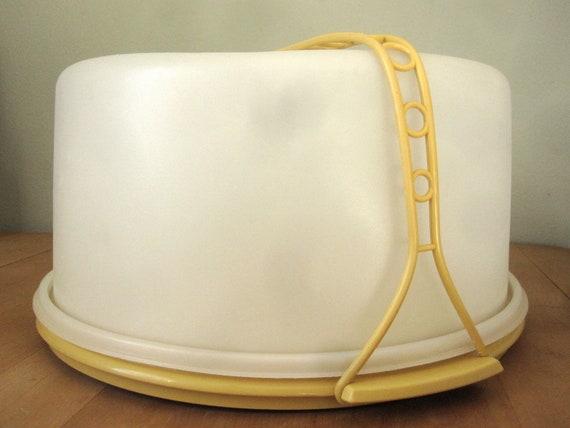 Tupperware Large Yellow Cake Carrier