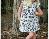Kate's Dress - 12 mths to 10 yrs - PDF Pattern and Instructions -  A-line, 2 yoke options, lined bodice - FREE shipping