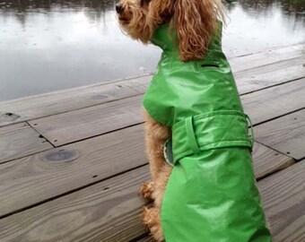 """Dog Raincoat """"Trench style"""" Small Dog Raincoat"""