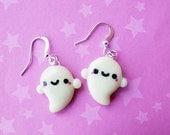 Glow in the Dark Kawaii Ghost Earrings