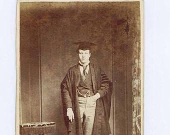 Antique Carte de Visite Photograph Cambridge England Don 19th century Academic University School History