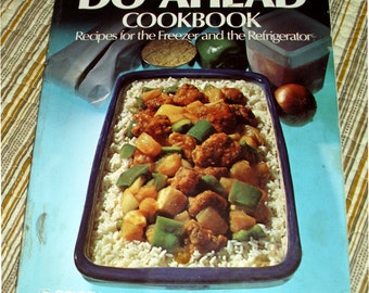 Betty Crocker's Do-Ahead Cookbook 1977 Vintage