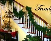 HAPPY HOLIDAYS DECAL, Door, Seasonal, Family Holiday Christmas Stickers - holiday Wall Stickers - Happy Holidays