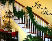HAPPY HOLIDAYS DECAL, Door, Seasonal, Joy to the World Holiday Christmas Stickers - holiday Wall Stickers - Happy Holidays