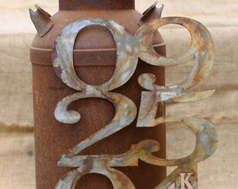 Personalized Rustic Metal Wedding Anniversary Date Art *the original*