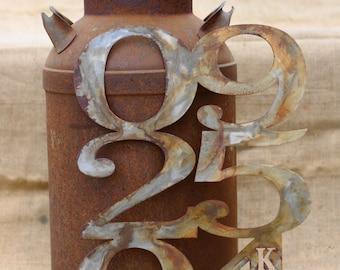 Personalized Rustic Metal Wedding Anniversary Date Art *the original*
