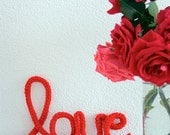 "LOVE ""mots au crochets"" crochet word  (original design from IDA interior lifestyle)"