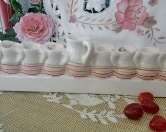 HANUKKAH - Judaic Traditional Hand-Made Ceramic Menorah -TREASURY ITEM