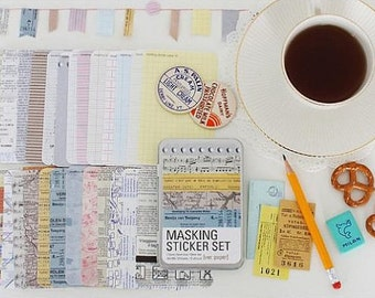 Masking Sticker Set - ver. paper (Tin Case)