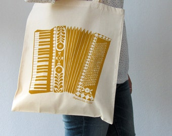 SALE Accordion illustrated tote bag