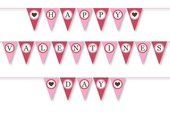 Valentine's Sale - DIY Banner PDF Files - Pink Red and Brown - Full Size Print Ready Party Banner  -  Large 9 foot or 3 meters wide