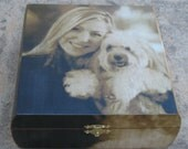 Pet Memorial Keepsake Box, Personalized Photo Keepsake Box, Unique Dog Memorial, Pet Urn, Custom Cat Memorial, Pet Gift Memory Box