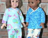 18 Inch Doll Clothes - American Girl Doll Pajamas