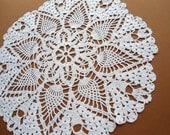 "Beautiful Crochet Doily / White / Lace / table decor / 12 """