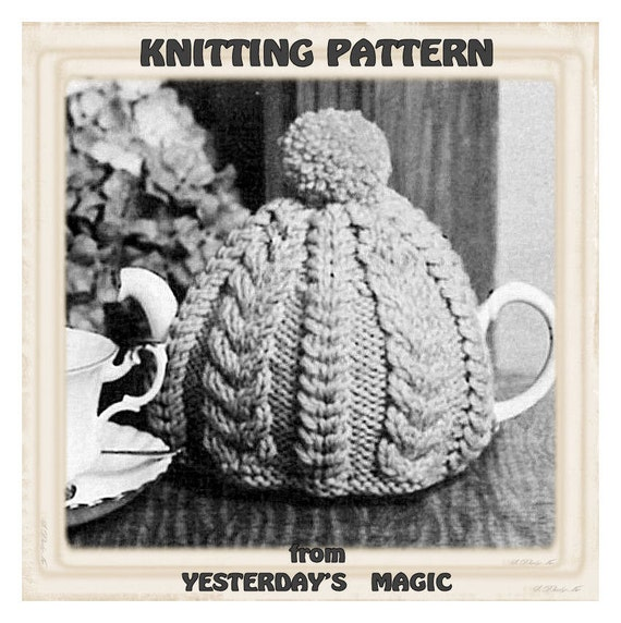 Knitting Patterns Tea Cosy Easy : Instant Download PDF Easy Quick Knitting Pattern to make a